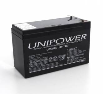 BATERIA SELADA UNIPOWER 12V  7A UP1270E NOBREAK 5